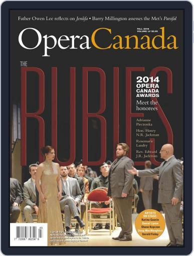 Opera Canada September 1st, 2014 Digital Back Issue Cover
