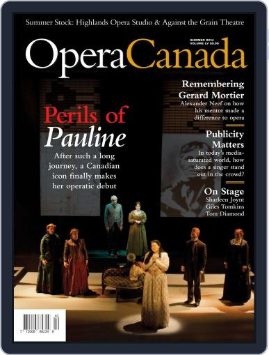 Opera Canada July 21st, 2014 Digital Back Issue Cover