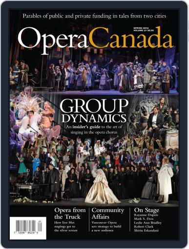 Opera Canada April 21st, 2014 Digital Back Issue Cover