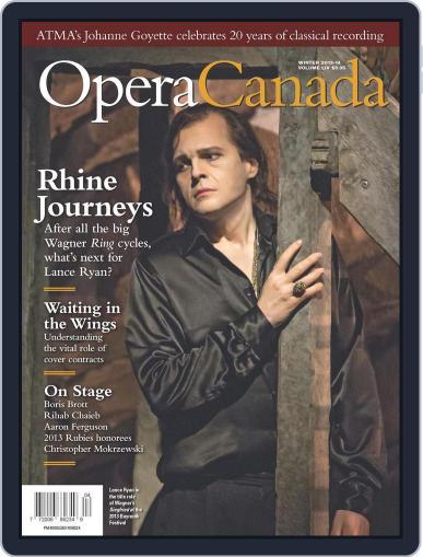 Opera Canada January 20th, 2014 Digital Back Issue Cover