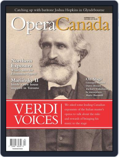 Opera Canada July 15th, 2013 Digital Back Issue Cover