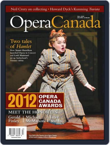 Opera Canada (Digital) October 12th, 2012 Issue Cover