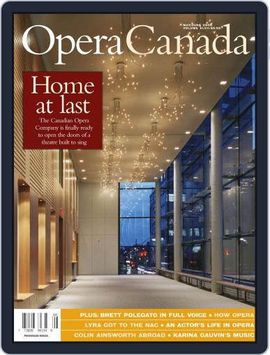 Opera Canada (Digital) July 23rd, 2012 Issue Cover
