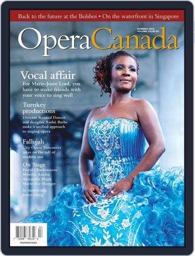 Opera Canada (Digital) July 13th, 2012 Issue Cover