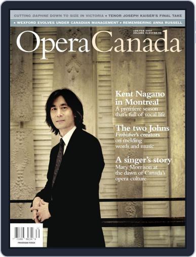 Opera Canada July 5th, 2012 Digital Back Issue Cover