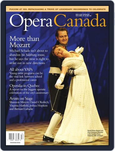 Opera Canada April 3rd, 2012 Digital Back Issue Cover
