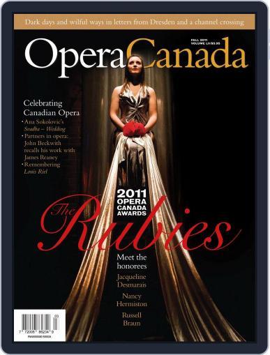 Opera Canada (Digital) September 23rd, 2011 Issue Cover