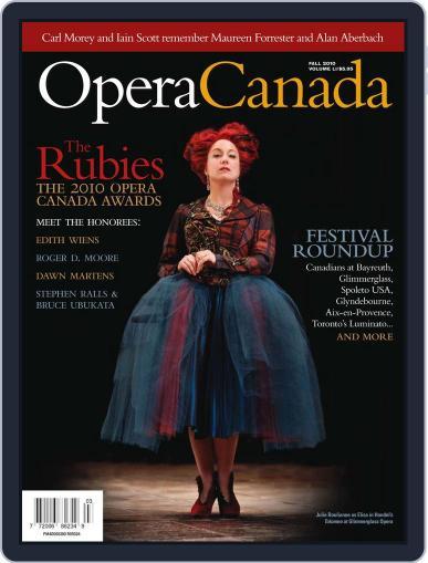 Opera Canada (Digital) October 4th, 2010 Issue Cover