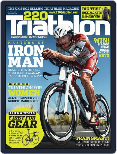 220 Triathlon (Digital) December 1st, 2015 Issue Cover