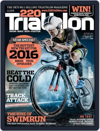 220 Triathlon (Digital) November 1st, 2015 Issue Cover