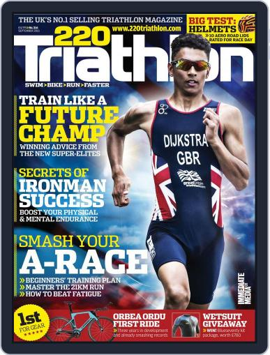 220 Triathlon (Digital) September 1st, 2015 Issue Cover