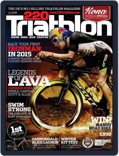 220 Triathlon (Digital) November 13th, 2014 Issue Cover