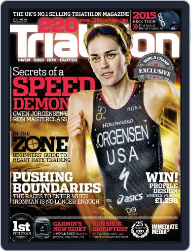 220 Triathlon (Digital) October 24th, 2014 Issue Cover