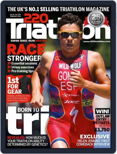 220 Triathlon (Digital) February 18th, 2014 Issue Cover