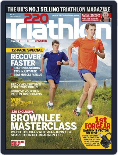 220 Triathlon (Digital) September 18th, 2013 Issue Cover