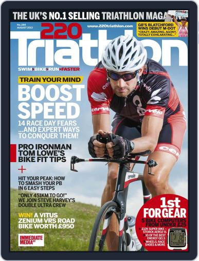 220 Triathlon (Digital) July 22nd, 2013 Issue Cover