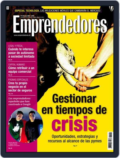 Emprendedores May 23rd, 2008 Digital Back Issue Cover