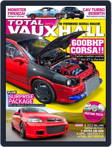Performance Vauxhall September 2nd, 2012 Digital Back Issue Cover