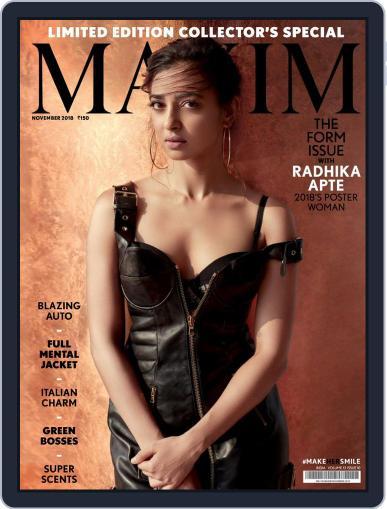 Maxim India (Digital) November 1st, 2018 Issue Cover