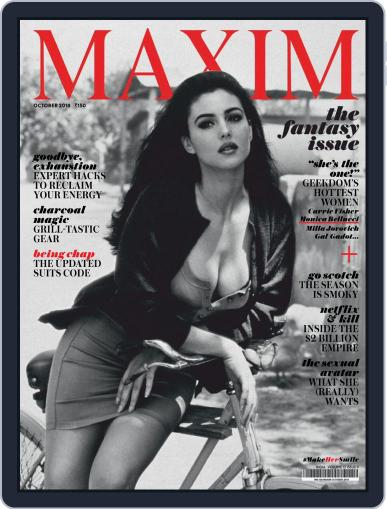 Maxim India (Digital) October 1st, 2018 Issue Cover