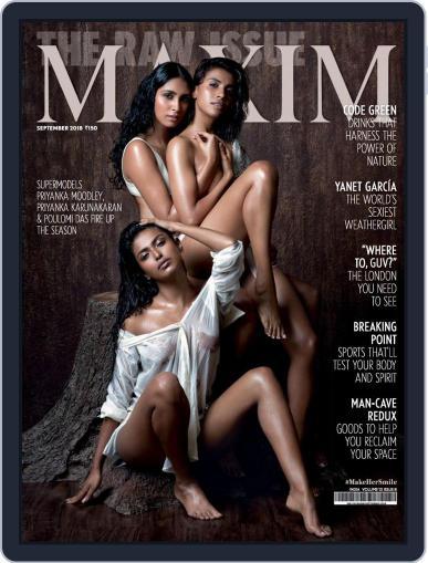 Maxim India (Digital) September 1st, 2018 Issue Cover