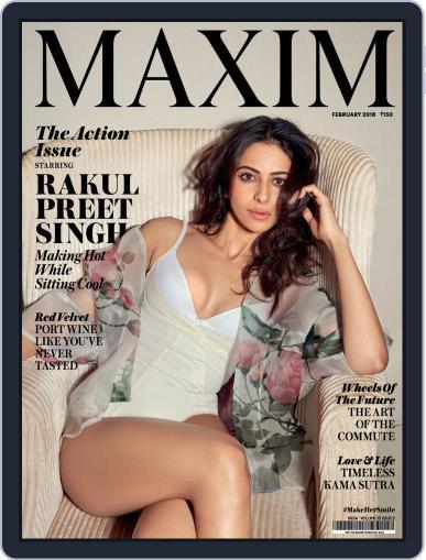 Maxim India (Digital) February 1st, 2018 Issue Cover