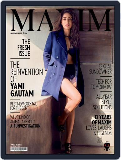 Maxim India (Digital) January 1st, 2018 Issue Cover