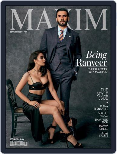 Maxim India (Digital) September 1st, 2017 Issue Cover