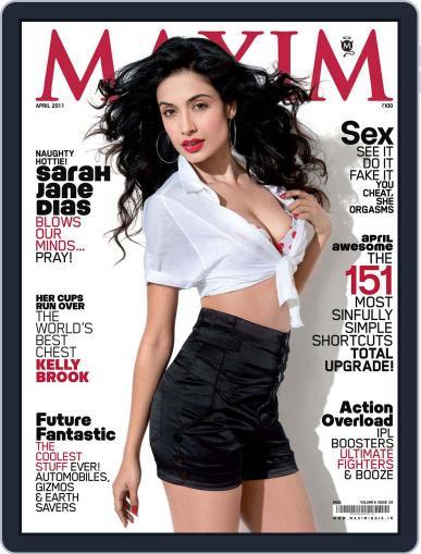 Maxim India (Digital) April 12th, 2011 Issue Cover