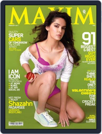 Maxim India (Digital) February 10th, 2011 Issue Cover