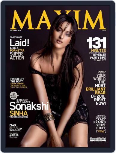 Maxim India (Digital) December 8th, 2010 Issue Cover