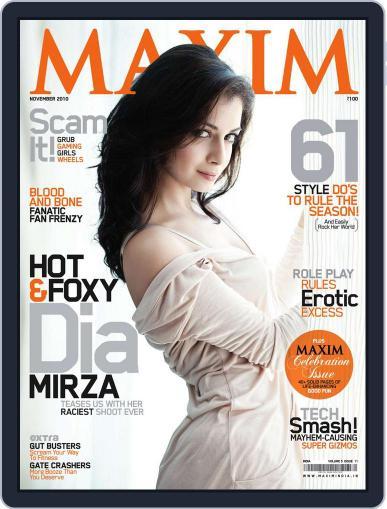 Maxim India (Digital) November 16th, 2010 Issue Cover