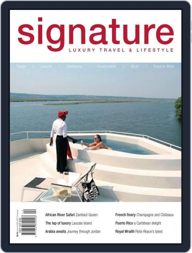 Signature Luxury Travel & Style March 17th, 2014 Digital Back Issue Cover