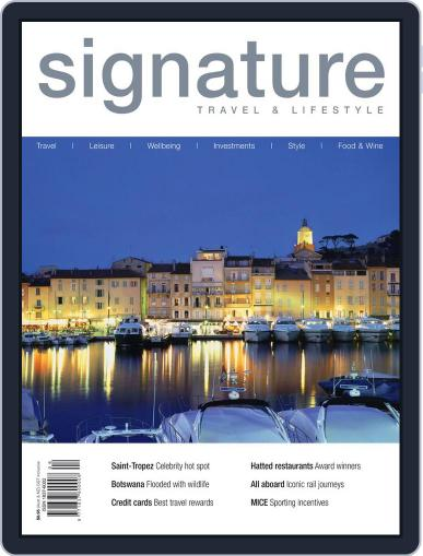 Signature Luxury Travel & Style November 13th, 2011 Digital Back Issue Cover