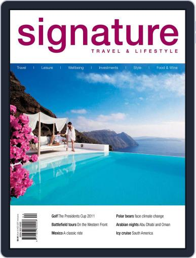 Signature Luxury Travel & Style August 11th, 2011 Digital Back Issue Cover