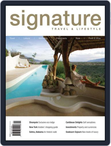 Signature Luxury Travel & Style March 23rd, 2011 Digital Back Issue Cover