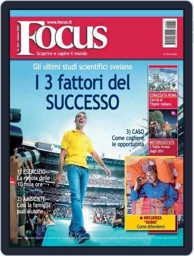 Focus Italia (Digital) September 21st, 2009 Issue Cover