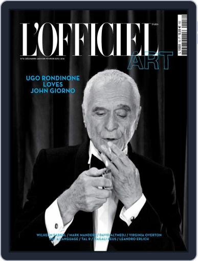L'officiel Art March 23rd, 2016 Digital Back Issue Cover