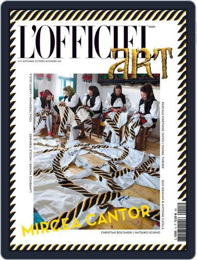 L'officiel Art September 17th, 2015 Digital Back Issue Cover