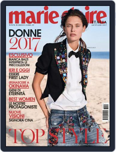 Marie Claire Italia January 1st, 2017 Digital Back Issue Cover