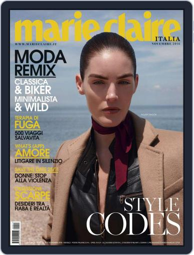 Marie Claire Italia (Digital) November 1st, 2016 Issue Cover