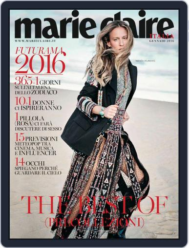 Marie Claire Italia January 1st, 2016 Digital Back Issue Cover