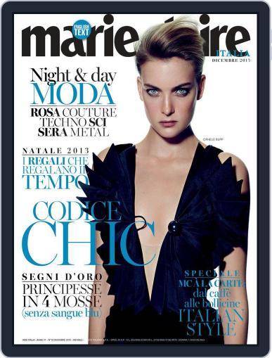 Marie Claire Italia November 20th, 2013 Digital Back Issue Cover