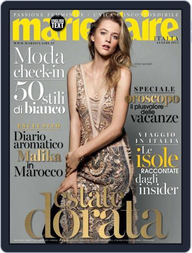 Marie Claire Italia June 17th, 2013 Digital Back Issue Cover