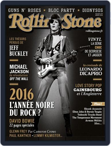 Rolling Stone France February 26th, 2016 Digital Back Issue Cover