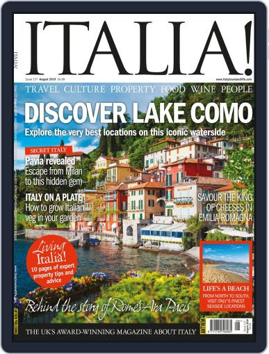 Italia August 1st, 2019 Digital Back Issue Cover
