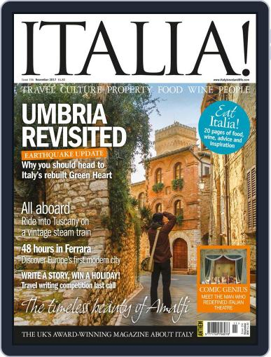Italia November 1st, 2017 Digital Back Issue Cover