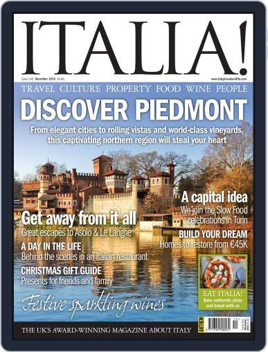 Italia December 1st, 2016 Digital Back Issue Cover