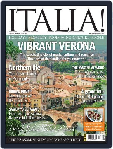 Italia (Digital) August 11th, 2016 Issue Cover