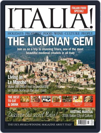 Italia January 1st, 2016 Digital Back Issue Cover